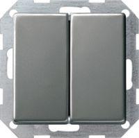 Кнопочный выключатель 10 A 250 В~ с клавишей 2-местн. Двухклавишный выключатель