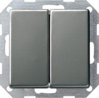 Кнопочный выключатель 10 A 250 В~ с клавишей 2-местн. Переключатель 2-местн.