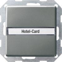 Карточный выключатель 10 A, 250 В~ с подсветкой и полем для надписи Переключатель 1-пол.