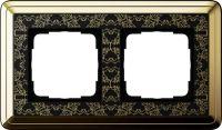 Установочная рамка Gira ClassiX Art латунь-черный