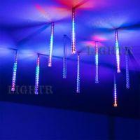 Светодиодная гирлянда ARD-ICEFALL-CLASSIC-D12-200-10PCS-CLEAR-32LED-LIVE RGB (230V, 10.5W)
