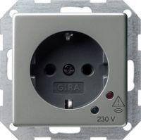 Розетка с заземляющими контактами 16 A, 250 В~ с защитой от перенапряжения без поля для надписи