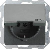 Розетка с заземляющим штырем 16 A 250 В~ с откидной крышкой, затвором и пиктограммой