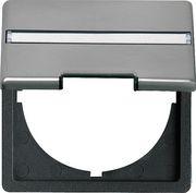 Промежуточная рамка с круглым вырезом и откидной крышкой, с полем для надписи для устройств с накладкой (50 х 50 мм)