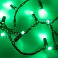 Светодиодная гирлянда ARD-STRING-CLASSIC-10000-BLACK-100LED-FLASH зеленый (230V, 7W)