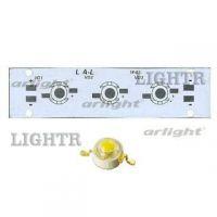 Плата 100x25-3Е-MONO Emitter (3x LED, 724-67)