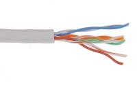 ITK Кабель связи витая пара U/UTP, кат.5E 2х2х24AWG solid, PVC, 500м, серый