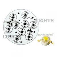 Плата D95-9E 3R-3G-3B Emitter (9x LED, 000-42)