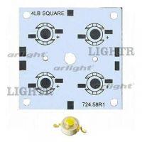 Плата 52x52-4E MONO Emitter (4x LED, 724-58)