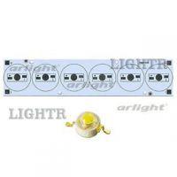 Плата 156x34-6Е-MONO Emitter (6x LED, 724-133)