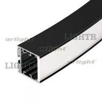 Профиль SL-ARC-3535-D1500-W90 BLACK (1180мм, дуга 1 из 4)