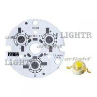 Плата D44-3E 1R-1G-1B Emitter (3x LED, 724-22)