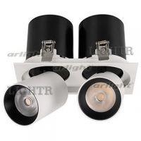 Светильник LGD-PULL-S100x200-2x10W Warm3000 (WH, 20 deg)