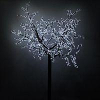 Светодиодное дерево ARD-CHERRY-2.4M-BROWN-1728LED White (220V, 100W)