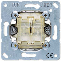 JUNG Выключатель 10AX 250V кнопочный универсальный сдвоенный