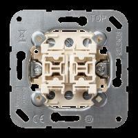 JUNG Выключатель 10AХ 250V универсальный сдвоенный