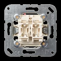 JUNG Кнопка сдвоенная без фиксации с двумя НО контактными группами