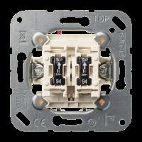 JUNG Кнопка сдвоенная без фиксации с двумя НО контактными группами и подсветкой