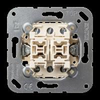 JUNG Кнопка сдвоенная без фиксации с двумя переключающими группами