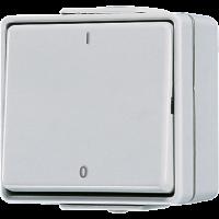 JUNG Выключатель двухполюсный,  для накладного монтажа IP44