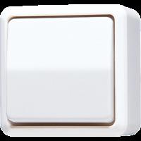 JUNG Выключатель для накладного монтажа, универсальный; белый
