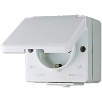 JUNG Штепсельная розетка SCHUKO для накладного монтажа IP44