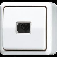 JUNG Кнопка для накладного монтажа без фиксации, однополюсная с НО контактом; белая