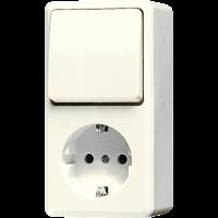 JUNG Штепсельная розетка SCHUKO для накладного монтажа с универсальным выключателем