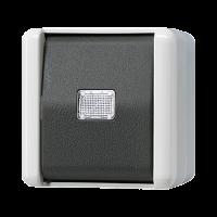 JUNG Кнопка без фиксации, однополюсная с НО контактом; для накладного монтажа IP44