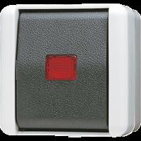 JUNG Кнопка без фиксации 10AX 250V ~ с НО контактом,  для накладного монтажа IP44