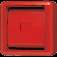 JUNG Крышка со стеклом – красная клавиша и красное окошко