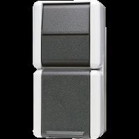 JUNG Комбинация - розетка универсальный выключатель; для накладного монтажа IP44