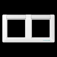 JUNG Рамка 2-кратная с полем для надписи; белая
