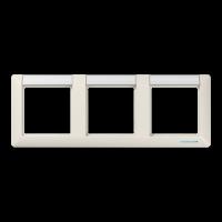 JUNG Рамка 3-кратная с полем для надписи; слоновая кость