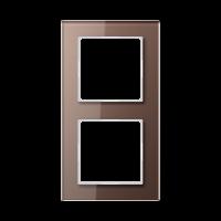 JUNG Рамка 2-кратная; стекло, мокка