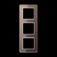 JUNG Рамка 3-кратная; стекло, мокка