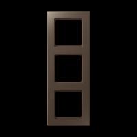 JUNG Рамка 3-кратная; мокка