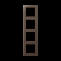 JUNG Рамка 4-кратная; мокка