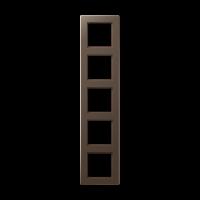 JUNG Рамка 5-кратная; мокка