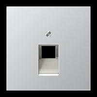 JUNG Крышка для ординарной телефонной и компютерной розетки  UAE; алюминий