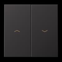 Клавиша с символами для жалюзийного выключателя ;dark (лакиров. алюминий)