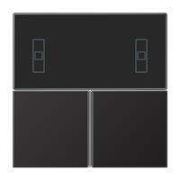 Набор накладок, комплект защелкиваются на комнатном компактном контроллере;dark (лакиров. алюминий)