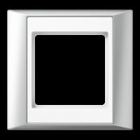 JUNG Рамка 1-кратная для серии Aplus; алюминий-белый