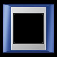 JUNG Рамка 1-кратная для серии Aplus; синий-алюминий