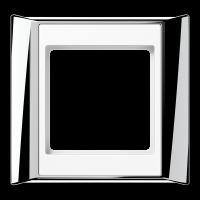 JUNG Рамка 1-кратная для серии Aplus; полированный хром-белый