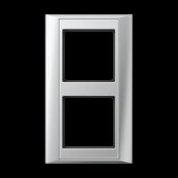 JUNG Рамка 2-кратная для серии Aplus; алюминий