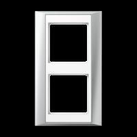 JUNG Рамка 2-кратная для серии Aplus; алюминий-белый