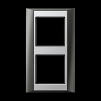 JUNG Рамка 2-кратная для серии Aplus; антрацит-алюминий