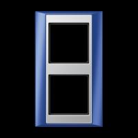 JUNG Рамка 2-кратная для серии Aplus; синий-алюминий