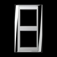JUNG Рамка 2-кратная для серии Aplus; полированный хром-алюминий